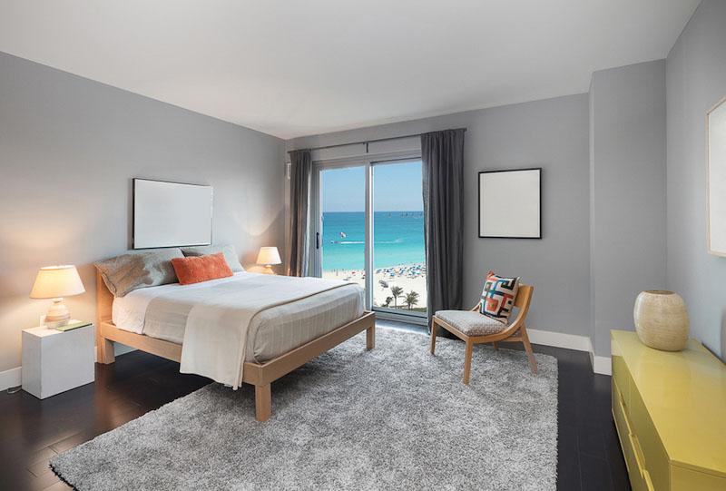 Schlafzimmer mit Blick aufs Meer - Ferienhaus